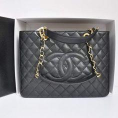 London Chanel Original Caviar Leather Shoulder Bag Black