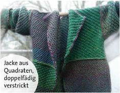 Quadrate-Jacke aus 12 Einzelteilen - schnell gemacht Beginner Knitting Patterns, Knitting For Beginners, Easy Knitting, Big Knit Blanket, Big Knits, Knit Pillow, Textiles, Oui Oui, Sock Yarn