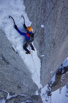 On the stunning ice pitches of Late to Say I'm Sorry, Aiguille Verte
