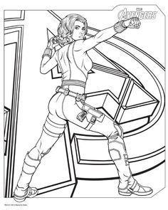 Download Avengers Coloring Pages Here BlackWidow