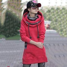 zhulanchao®women's op de lange vacht en dikker met kap fleece sweatshirts – EUR € 24.54