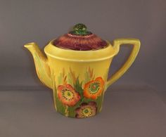 Carlton Ware Anemone Teapot in Pottery, Porcelain & Glass, Porcelain/ China, Carlton Ware | eBay