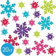 Jewel Tone Prismatic Snowflake Cutouts 20ct - Party City