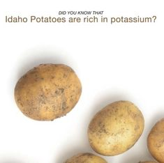 Great info about potassium and potatoes from our friends at Famous Idaho Potatoes:   Potassium is an electrolyte essential for muscle functioning and when you sweat, you lose it. There is more #potassium per serving in one medium potato (620mg) than a medium sized banana (422mg). Fuel up on Idaho® potatoes, you will stay full longer and have the energy to keep going!  For more information on Idaho® Potatoes nutrition facts!  📸 : Famous Idaho Potatoes Potato Nutrition Facts, Sources Of Dietary Fiber, Idaho Potatoes, Muscle Function, Vitamin C, Banana, Vegetables, Medium, Friends