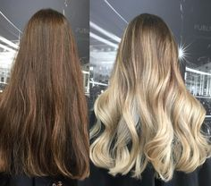 """#TransformationTuesday! @Nik_zhelezniy took her client from brunette to blonde with Olaplex and the results are amazing! Fabulous, healthy, and shiny. We're so thankful to be able to see fabulous work like this within #Olaplex. Thank you all for posting!  """"I did Balayage using Wella freelights 40 vol and Olaplex. Rinse. I Toned with color touch 10.6 and 9.16, rinse, and did an Olaplex treatment with No. 2 for 15 min."""" -Nik  #olaplex #modernsalon #beautylaunchpad #hair #balayage"""