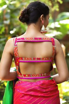 Drool Worthy Latest Blouse Designs - The List Will Amaze You - - The much awaited list is here Ladies. Have a look at the latest blouse designs trends for this year. The list will surely amaze you. Read on. Choli Blouse Design, Pattu Saree Blouse Designs, Stylish Blouse Design, Blouse Back Neck Designs, Fancy Blouse Designs, Bridal Blouse Designs, Latest Blouse Designs, Lehenga Blouse, Shagun Blouse Designs