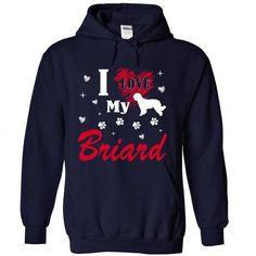 Briard T Shirts, Hoodies. Get it now ==► https://www.sunfrog.com/Pets/Briard-1509-NavyBlue-Hoodie.html?57074 $39