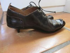 Cydwoq Vintage Steampunk Lace Up Handmade Leather Shoes 8.5 or 39
