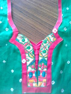 Different styles and patterns, kurta is first picked of college going girls, working women, social w Chudithar Neck Designs, Salwar Neck Designs, Neck Designs For Suits, Kurta Neck Design, Sleeves Designs For Dresses, Neckline Designs, Dress Neck Designs, Kurta Designs Women, Salwar Pattern