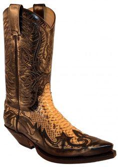 3241 Cuervo Denver Tierra-Pitón Barriga Panizo | Sendra unisex snake skin cowboy boot 312€