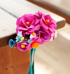 DIY crepe paper flowers with free printable templates