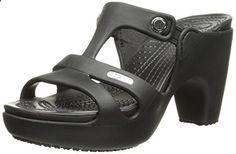 crocs Women's Cyprus V Heel W Dress Sandal, Black/Black, 10 B(M) US - Relaxbuddy Online Shopping Wedge Heels, Women's Heels, Heeled Sandals, W Dresses, Dress Sandals, Cyprus, Crocs, Sneakers, Online Shopping