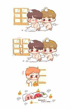 It's fine to have big 👃! Exo Kokobop, Kpop Exo, Sehun, Baekhyun Fanart, Kpop Fanart, Chanbaek, Exo Ot12, Kaisoo, Kawaii Chibi