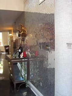 1 inch flat silver mirror tiles
