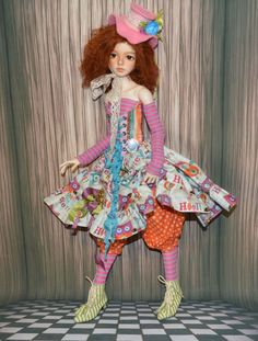 "OOAK ""Fun owl"" for SD Dollstown Elf, SD Kaye Wiggs & other Harpia✿Doll✿Dress"