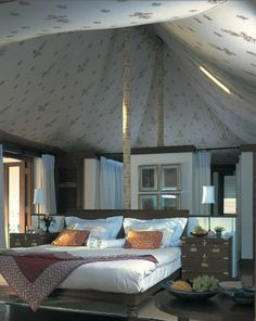 Stayed in a Tent Hotel, like this one: Oberoi Rajvillas-Jaipur India