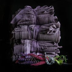 Plant Dyed Table Runner {PLUM tight weave} | Silk and Willow