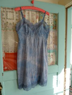 OOAK Hand Dyed VIOLET MOON Lace Slip Dress sz by bluebellandbonnet, $26.00