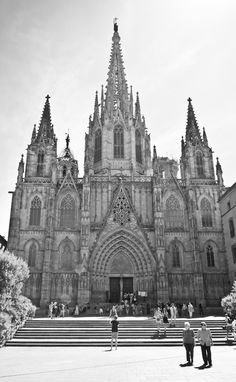 Barcelona Cathedral. Gothic Quarter, Barcelona. Spain
