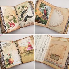 """119 Likes, 7 Comments - Liezl B - I Love Paper (@didsomebodysaypaper) on Instagram: """"Last of the photos of the birds and butterflies journal that I have made. I just love these…"""""""
