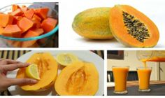 Carica Papaya – it the botanical name for the sweet and delicious tropical fruit papaya. Papaya originates from Central America and Southern Mexico, but you can also find it in many other tropical regions and Low Sodium Desserts, Diet Desserts, Sugar Free Desserts, Healthy Dessert Recipes, Healthy Snacks, Healthy Eating, Alkaline Foods, Weight Loss Snacks, Healthy Tips