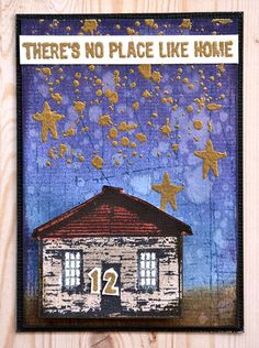 ATC by Belinda Spencer using Darkroom Door Home Sweet Home, Scratches Background Stamp and Splatter Texture Stamp!