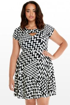 Plus Size Adrian Keyhole Flare Dress   Fashion To Figure $44.90
