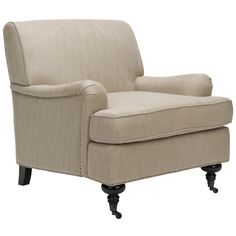 Nottingham Taupe Nailhead Club Chair | Overstock.com