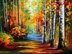 FOREST ROAD - PALETTE KNIFE Oil Painting On Canvas By Leonid Afremov http://afremov.com/FOREST-ROAD-PALETTE-KNIFE-Oil-Painting-On-Canvas-By-Leonid-Afremov-Size-30-x40.html?utm_source=s-pinterest&utm_medium=/afremov_usa&utm_campaign=ADD-YOUR