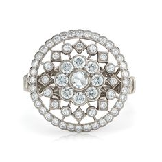 28069 Athena diamond ring from the Kwiat Vintage Collection in 18K white gold
