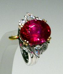 """10 carat """"pigeon's blood"""" Red Ruby Ring in an elegant antique setting"""