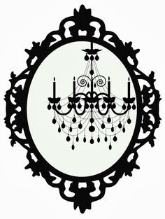 FREEBIES WEEK: 6 Fancy Framed Chandeliers!