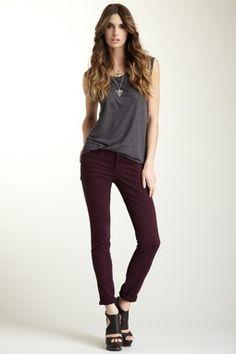 12bf22b29f44 Five Pocket Skinny Jean Trendy Fashion