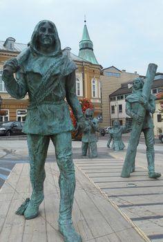 Wieliczka, the main square with some figures of salt miners Wieliczka Salt Mine, Outdoor Decor