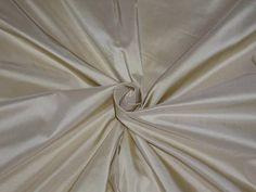 100% PURE SILK TAFFETA FABRIC CREAM WITH GOLD SHOT Silk Taffeta, 100 Pure, Pure Silk, Autumn, Pure Products, Cream, Fabric, Gold, Image
