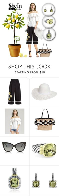 """""""Blouse"""" by manueladimauro ❤ liked on Polyvore featuring Dolce&Gabbana, Dorothy Perkins, WithChic, Alice + Olivia, Tom Ford and David Yurman"""