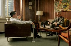 I love this lounge section of Draper's office from Mad Men