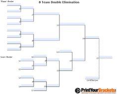 10 team double elimination printable tournament bracket horseshoe free double elimination tournament brackets fillable 8 team double elimination tournament bracket maxwellsz