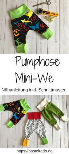 Pumphose Mini-We  Nähanleitung inkl. Schnittmuster Beginner Knitting Projects, Sewing Projects For Kids, Knitting For Beginners, Sewing For Kids, Diy Gifts For Christmas, Diy Gifts For Kids, Crafts For Girls, Holiday Decor, Crochet Blanket Patterns