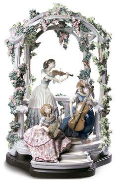 """Summertime Symphony"" by Lladro Porcelain Jewelry, Fine Porcelain, Porcelain Ceramics, Painted Porcelain, Porcelain Tile, Kintsugi, Dresden, China Dinnerware Sets, Ikebana"