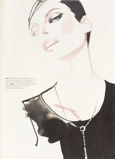 Super Model Linda Evangelista by David Downton