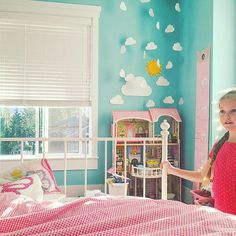 She's always off in her own little world 💕🦄🌈☁️💕 #kid #kidstagram #kidsroom #homesweethome #homedecor #girl #girlsroom #littlegirlsroom #blue #pink #decor #pretty #cute #decor #clouds #hearts #girly #turquoise #girlroom #kidsofinstagram #kidsfashion #nursery #nurserydecor #ikea #potterybarnkids #potterybarn