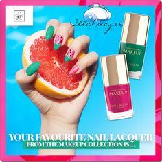 Vagány színek, extra tartósság és csillogás! :-) Makeup Collection, Grapefruit, Your Favorite, Make Up, Nails, Food, Finger Nails, Ongles, Eten