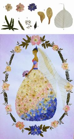 pressed flower art,Rita's graduation design