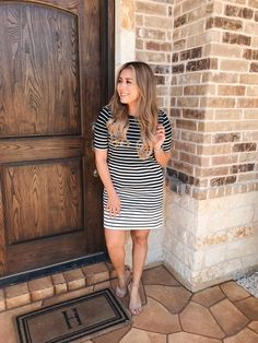 black and white dress #MyShopStyle #TrendToWatch #stripedress #runwayteacher