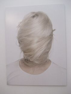 Hair completely covering the face, hidden identity.