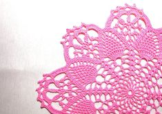 READY TO SHIP Beautiful crochet doily with by Handicraftshed
