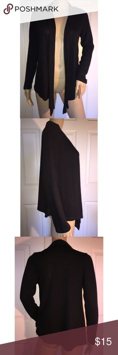 Black Cardigan It has only been washed and worn a couple times. It's in great condition. I am happy to provide any other information you would like to know. I am willing to negotiate on price if it is reasonable. Thank you! (: Ambiance Sweaters Cardigans