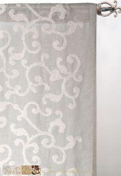 Burnt Orange Sheer Curtains Tangle Thread Pattern Modern Design With A Twist Pinterest