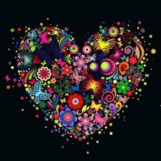 GOANG Diy 5 d Diamond Painting cross stitch Color butterfly heart Diamond embroidery flower painting rhinestones mosaic painting I Love Heart, Happy Heart, Peace And Love, Color Heart, Heart Wallpaper, Cool Wallpaper, Halloween Imagem, Heart Images, Love Symbols